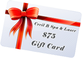 cecil b spa & laser 75 gift card