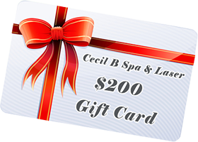 cecil b spa & laser 200 gift card