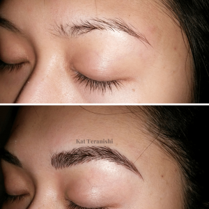 brow feathering